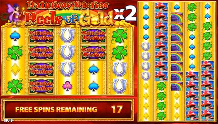 Rainbow Riches Reels of Gold slottar